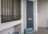 堺市 マンション 玄関ドアシート貼