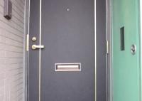 茨木市 マンション玄関ドアシート貼