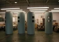 店舗 飾り柱 シート貼